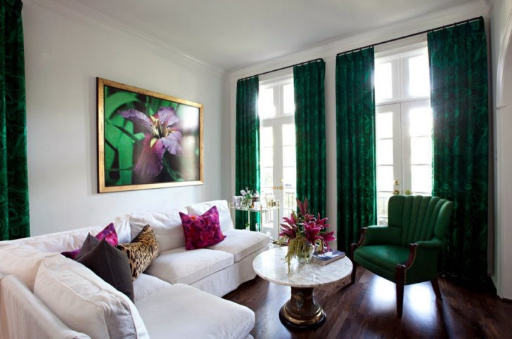 cortinas verdes