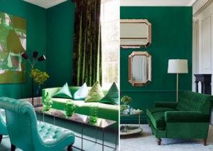 Decorando con Verde Esmeralda, color Pantone