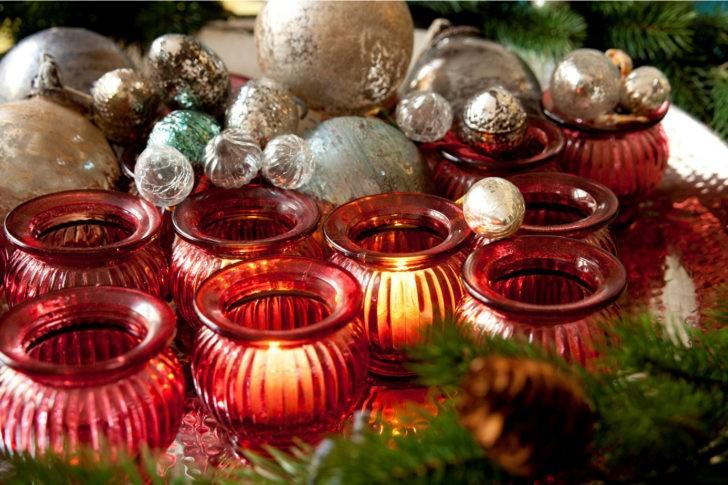 Decoracion navideña roja
