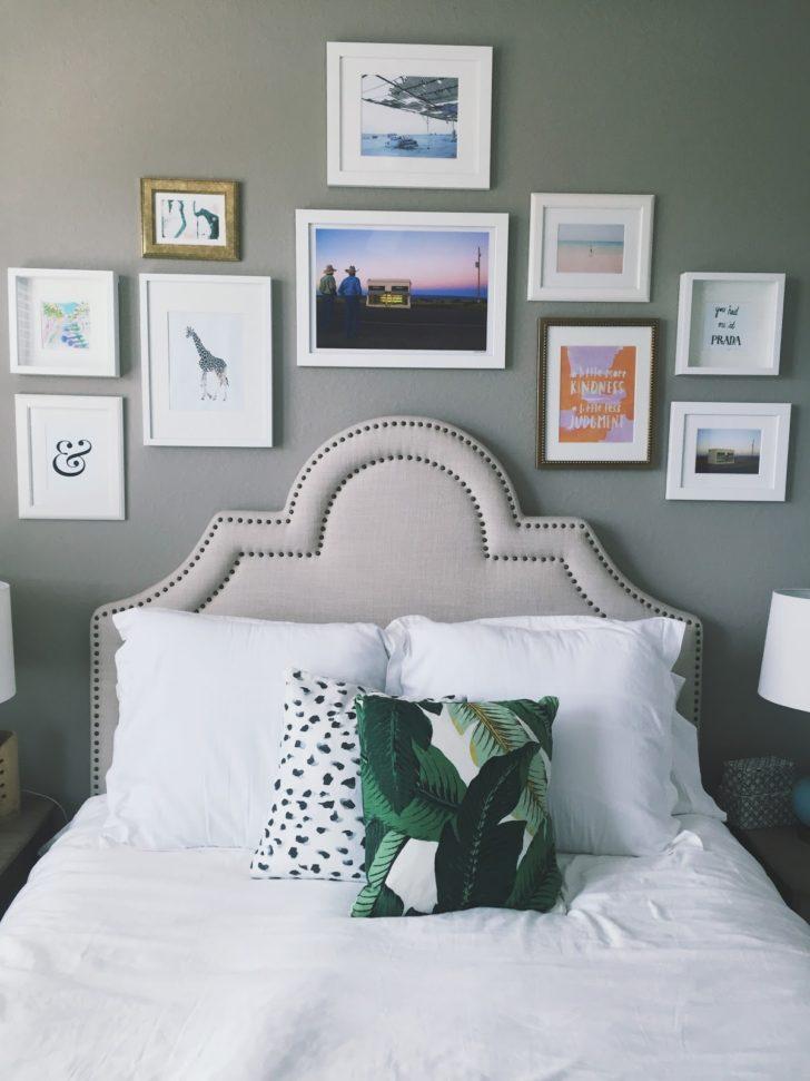 Dormitorio pared cabecera gris