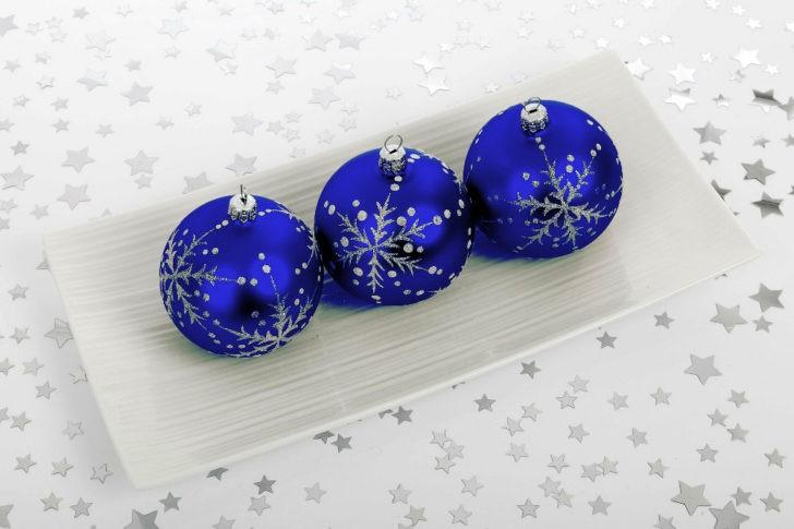 Para ésta navidad decoración en color azul , Casa y Color