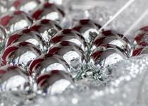 Decoración navideña en color plata