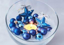 Decoración navideña en color azul