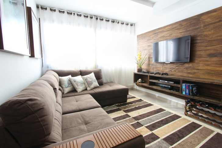 Sala con sofa en L