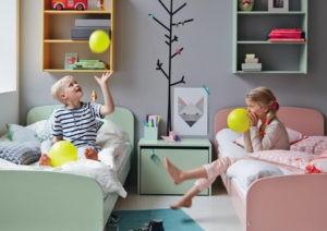 Cómo decorar un cuarto infantil mixto