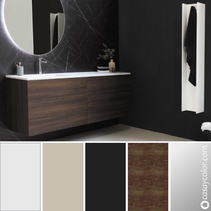 Baño moderno negro dark