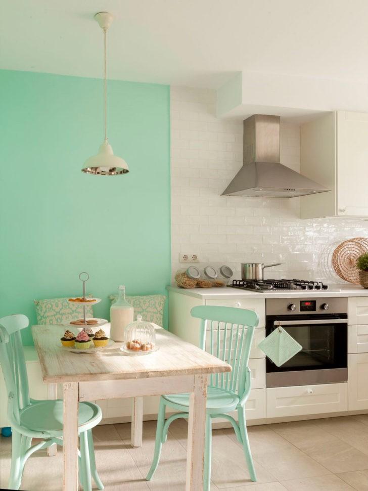 cocina verde menta