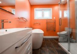 El color naranja en las paredes