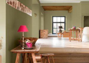 El color verde en pintura y decoración de interiores
