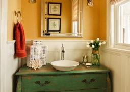 Un baño Bohemio-Chic