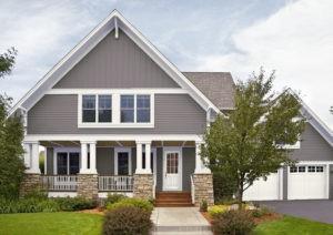 Fachadas de casas en colores grises