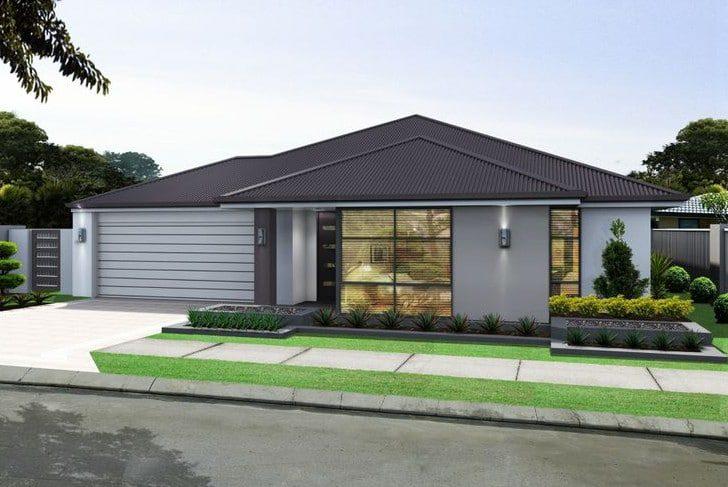 Casa moderna gris suave