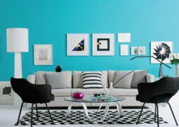 Color azul turquesa para la decoración interior