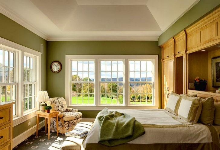 Dormitorio grande verde
