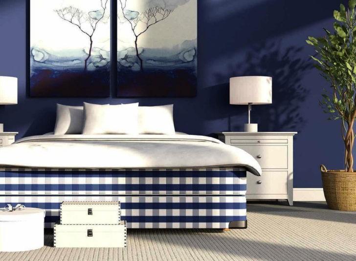Dormitorio azul naval