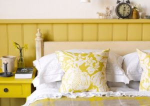 12 elegantes habitaciones en color amarillo