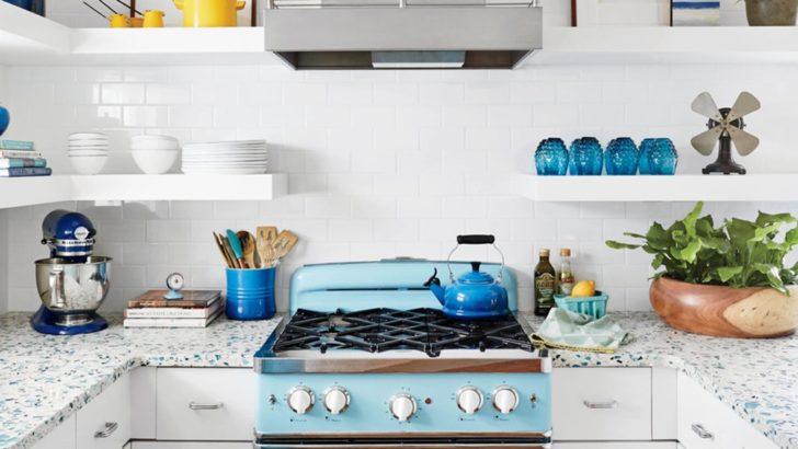 Cocina detalles azules