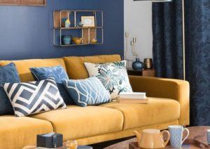 Qué colores pueden combinar con mostaza en tu salón