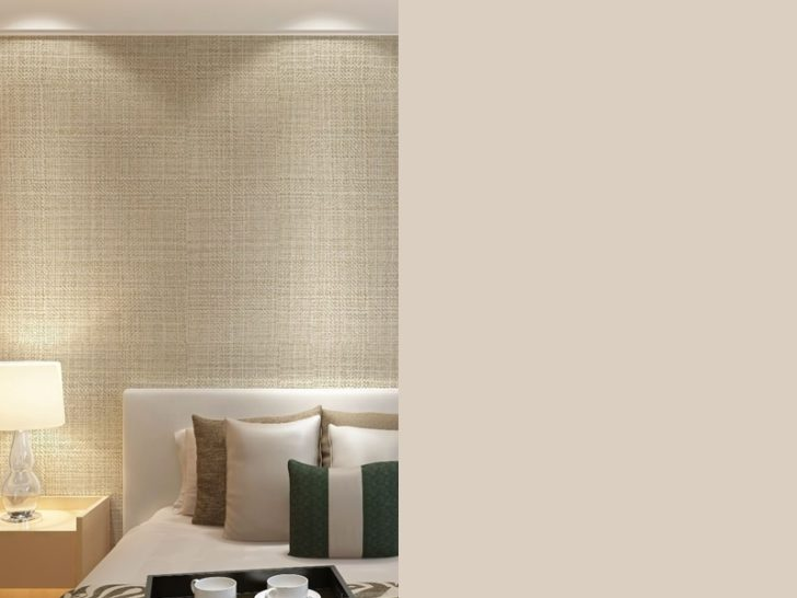 Fabric effect on the bedroom wall
