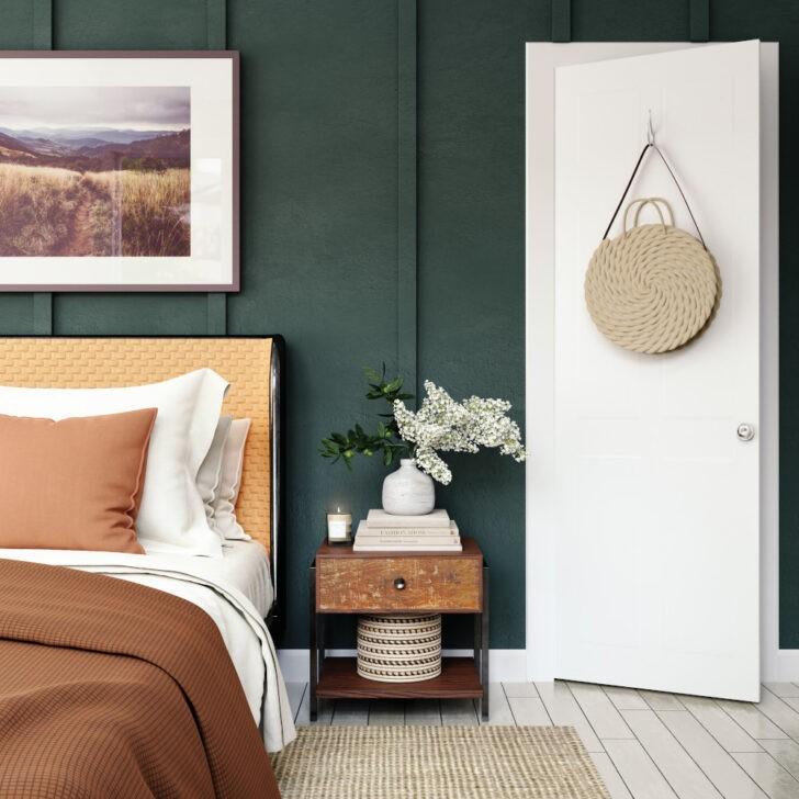 Dormitorio verde militar