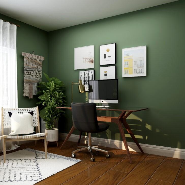 Home office verde suculenta