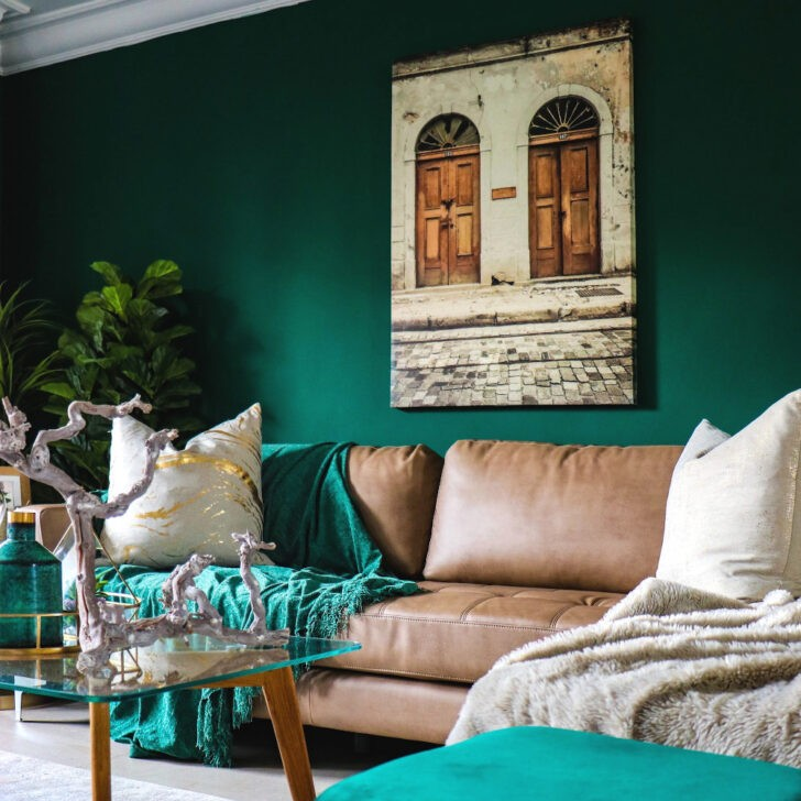 Salón verde esmeralda